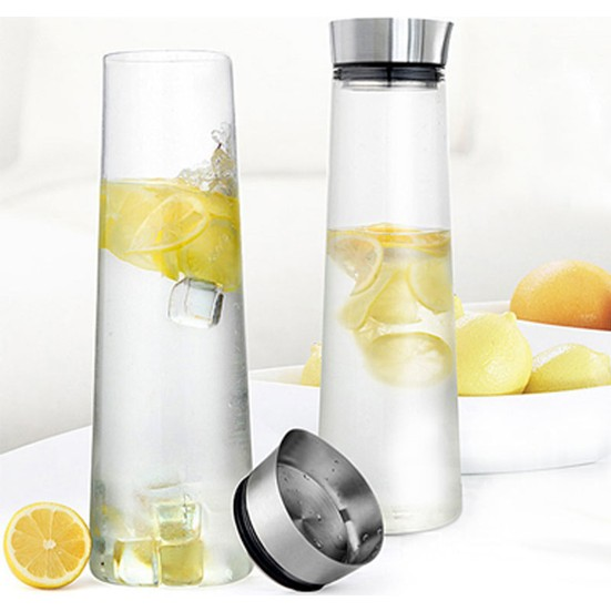 Glass Pitcher With Stainkess Stell Lid 2